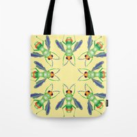 bug Tote Bags featuring Bug by MinaSparklina
