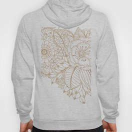 Elegant white faux gold glitter modern floral Hoody
