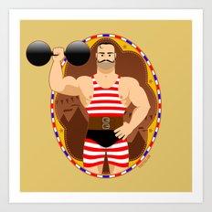Circus strongman Art Print