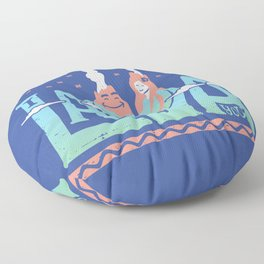 One Lava Floor Pillow