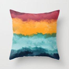 Storm at Coast Throw Pillow
