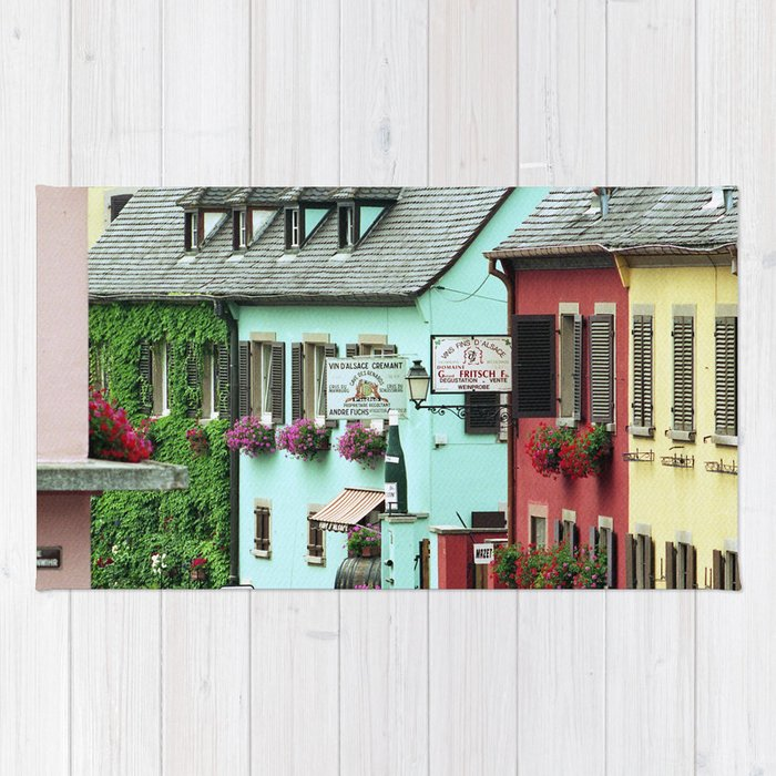 Pastel Town : Alsace Rug