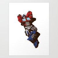 optimus prime Art Prints featuring Optimus  by Sergey Yaroshenko