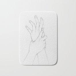 Untitled Hands No. 2 Bath Mat