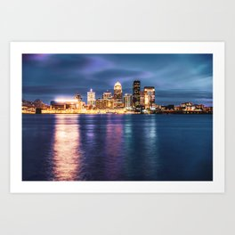 Downtown Louisville on the Ohio River Art Print