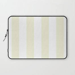 Vertical Stripes - White and Beige Laptop Sleeve