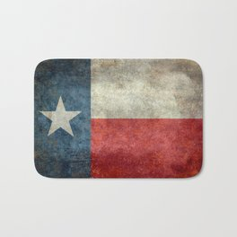 Texas state flag, vintage banner Bath Mat