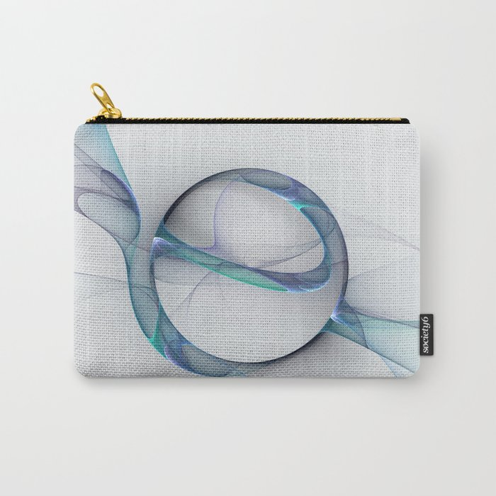 Minimalist Abstract, Fractal Art Carry-All Pouch