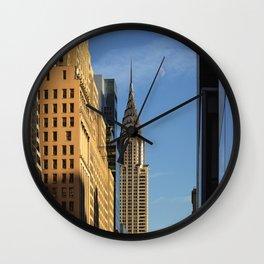 Moon Face - Chrysler Building 2017 Wall Clock