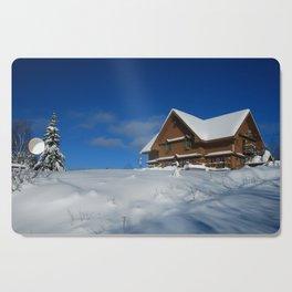 Winter House Cutting Board