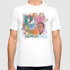 India dancer Mens Fitted Tee White MEDIUM