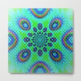 Blue & Green Fireballs Metal Print