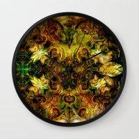 fibonacci Wall Clocks featuring Fibonacci 1 by Aleks7