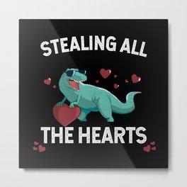 Heart Breaker Funny Saying Metal Print
