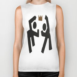 Take the Crown Plain Background Biker Tank
