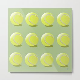 Tennis Ball Pattern Metal Print