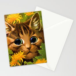 """Louis Wain's Cats """"Tabby in the Marigolds"""" Stationery Cards"""