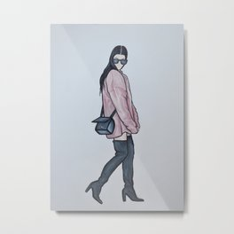 Kourtney Kardashian Metal Print