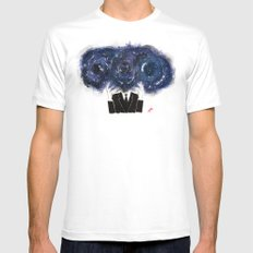 The Vastness of the Mind White Mens Fitted Tee MEDIUM