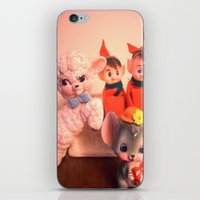 pixies iPhone & iPod Skins featuring Pixies gathers with lamb and mouse by Vintage  Cuteness