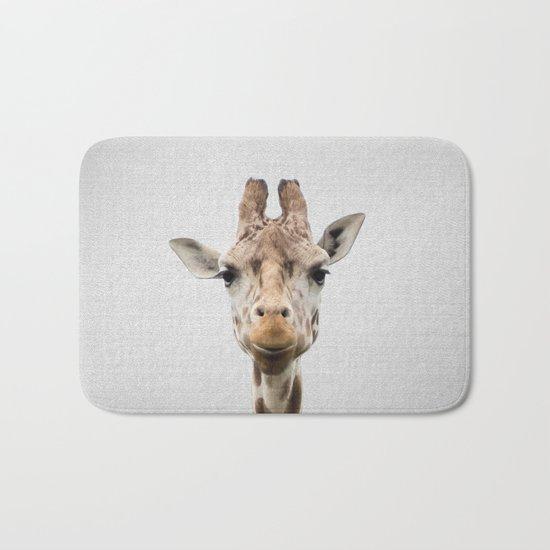 Giraffe - Colorful Bath Mat