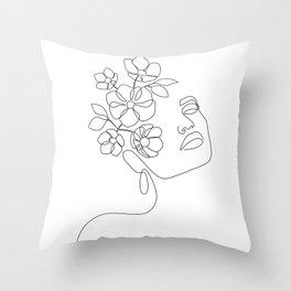 Dreamy Girl Bloom Throw Pillow