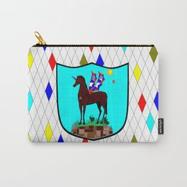 A Mechanical Winged Unicorn with Suns and comet Carry-All Pouch