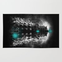 dalek Area & Throw Rugs featuring Shadow Of The Dalek by Fuacka