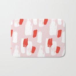 Colorful Brush Strokes Pattern Bath Mat