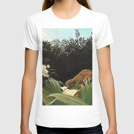 Henri Rousseau - Scouts Attacked by a Tiger T-shirt