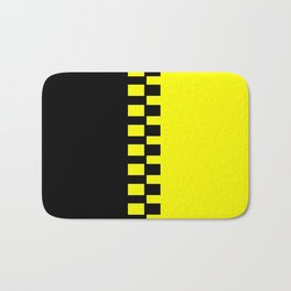 Yellow & Black Bath Mat