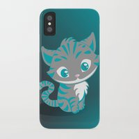 cheshire cat iPhone & iPod Cases featuring Cheshire Cat by Pixelowska