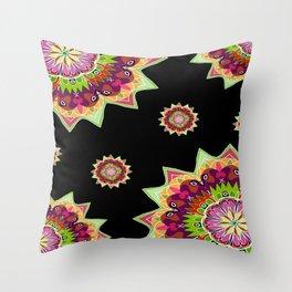Boho Garden Throw Pillow