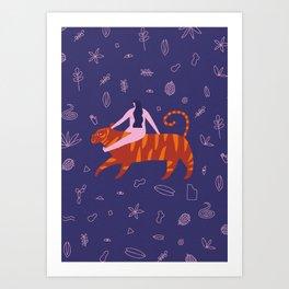 Night safari poster Art Print