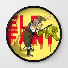 Elefant...or Elephant? Wall Clock