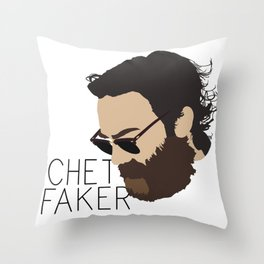 Chet Faker - Minimalistic Print Throw Pillow