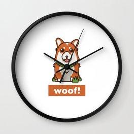 Cute Pembroke Cardigan Welsh Corgi Pet Dog Lover Wall Clock