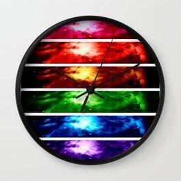Rainbow Nebula Wall Clock