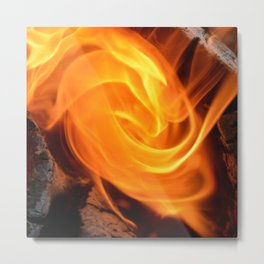 swirling flame Metal Print