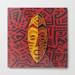 African Tribal Pattern No. 64 Metal Print