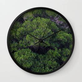 HALF AND HALF Wall Clock