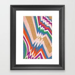 wonky chevron Framed Art Print