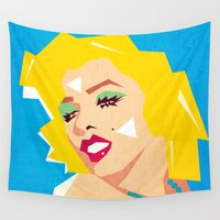 pop art Wall Tapestries featuring pop art  by mark ashkenazi