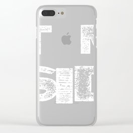 Not My President Clear iPhone Case
