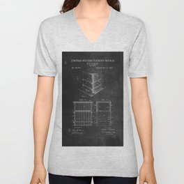 Beehive Patent with Bees Unisex V-Neck