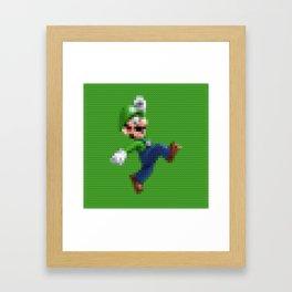 Luigi - Toy Building Bricks Framed Art Print