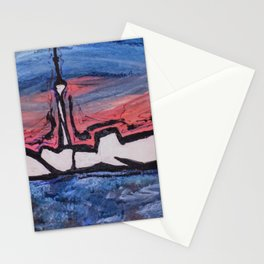 Toronto,gta,skyline,decor,modern,cityscape,wall art Stationery Cards