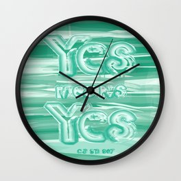Yes means Yes - SB967 - Aqua Wall Clock