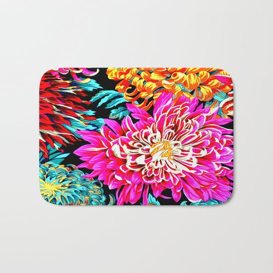 Chrysanthemums Bath Mat