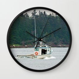 Wild Winds Heading Out Wall Clock
